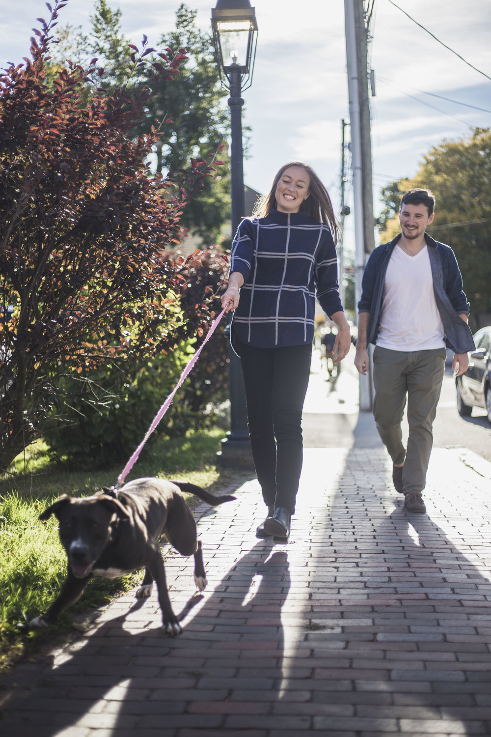 A couple shoot with their dog in Portsmouth, NH