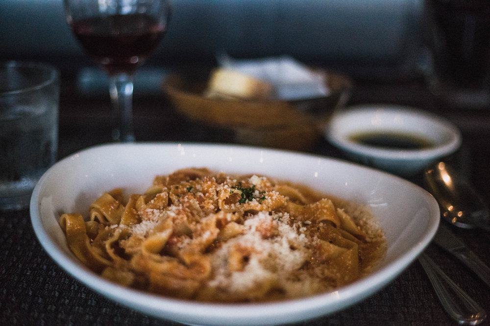Pasta from Bencotto in Little Italy (San Diego City Guide)