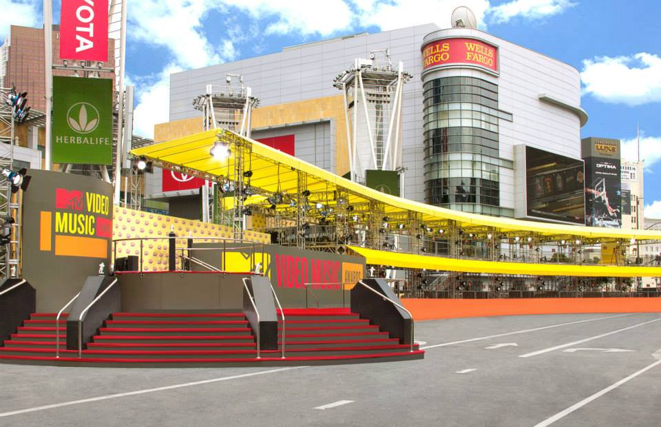 MTV Video Music Awards // Double Decker Red Carpet Structure