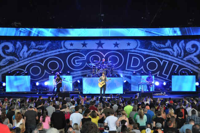 Goo Goo Dolls Stage Backdrop and Set