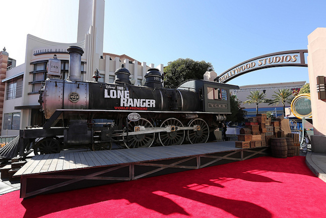 The Lone Ranger Premiere Staging