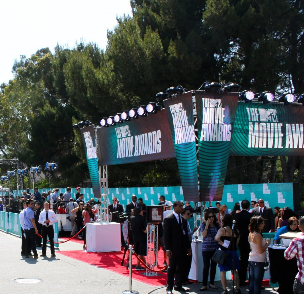 MTV Movie Awards Red Carpet Structures