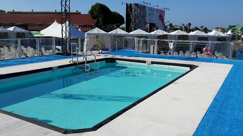 KAABOO Festival // Complete outdoor pool & custom decking