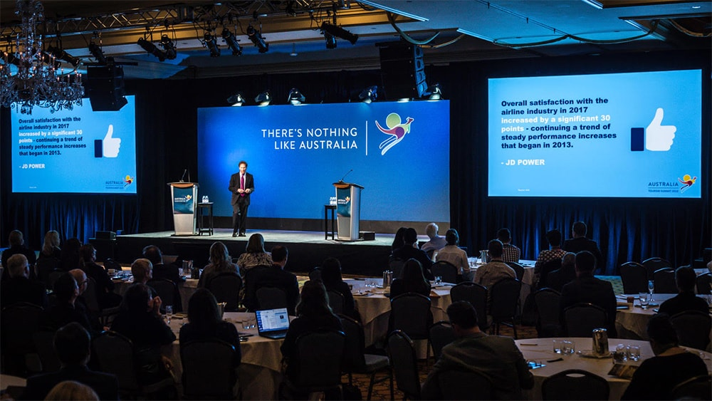 Australia Tourism Summit -Risers, Truss Arch Set Flat walls Supporting Backdrop