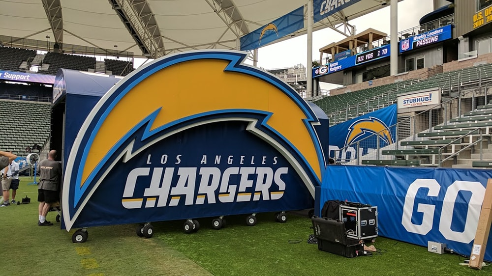 LA Chargers Custom Tunnel