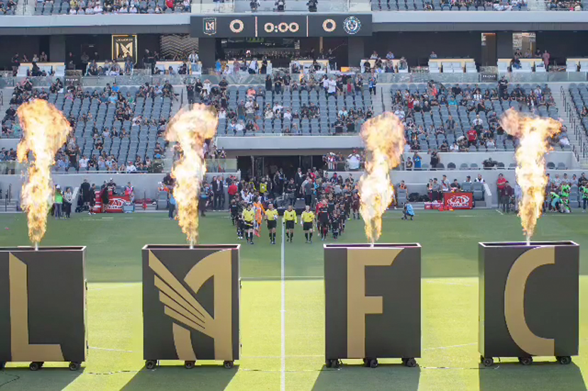 LAFC - Introductory Ceremony Pyro Carts