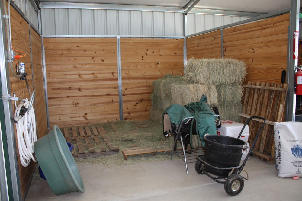Open Hay and Equipment Storage Option