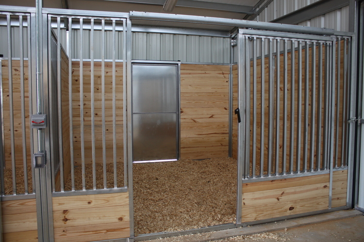Moore's Custom Miniature Horse Stall (See Moore's Miniature Horse Barn  HERE .)
