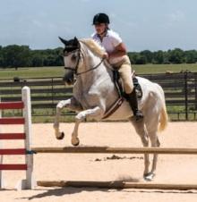 Valerie jumping Mistic