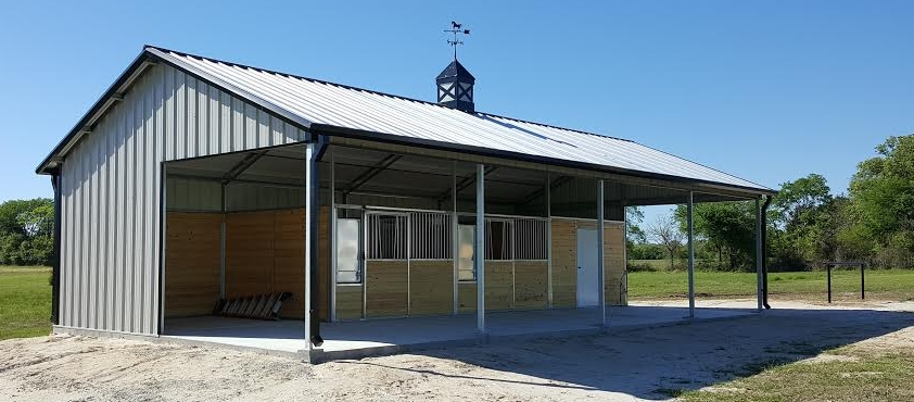 Shed Row Stall Barn
