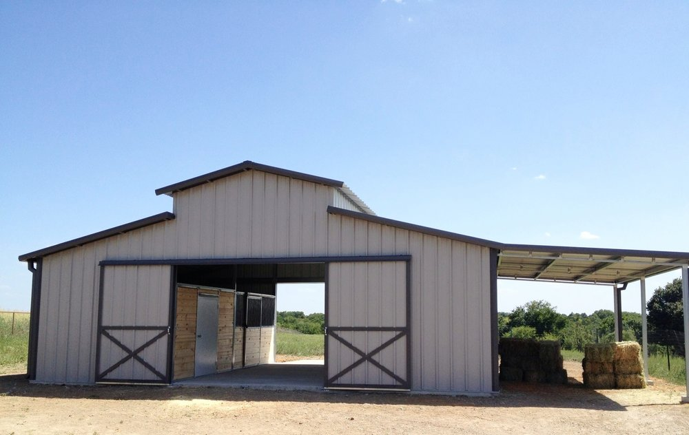 Amy's barn is 36 x 24 x 10.