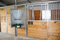 Swing-Out Feeders for horse stalls
