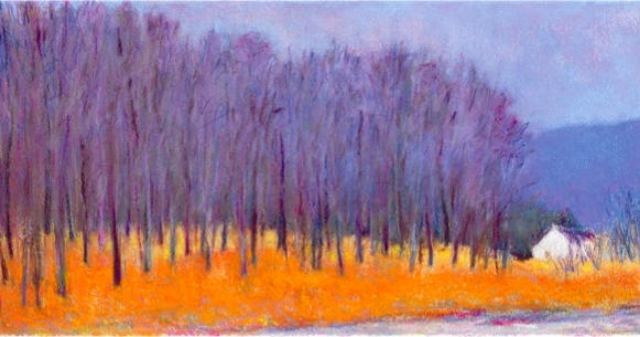 Blue Trees at the Roadside Giclee