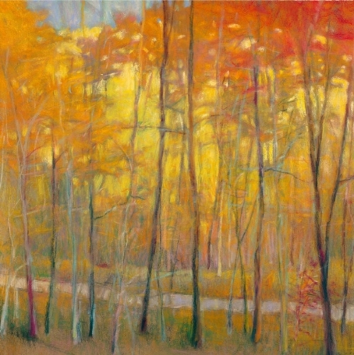 Yellows at the Creek LEFT Giclee
