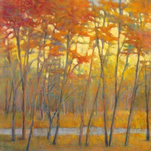 Yellows at the Creek RIGHT Giclee
