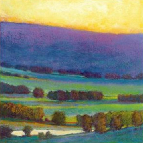 Sunset w Blue and Green Giclee