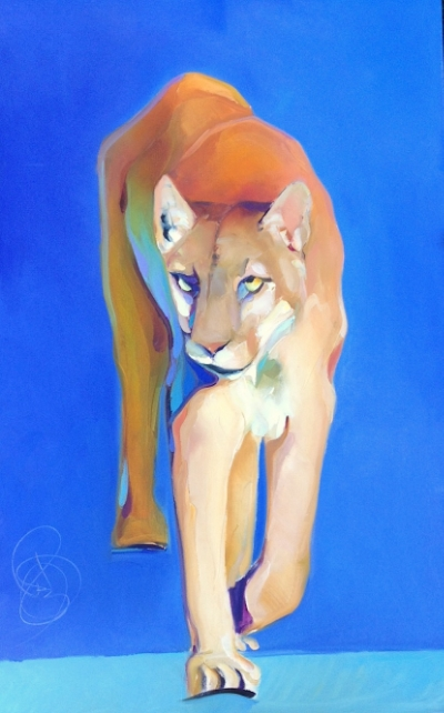 Mountain Lion 30x48 Stretched Canvas