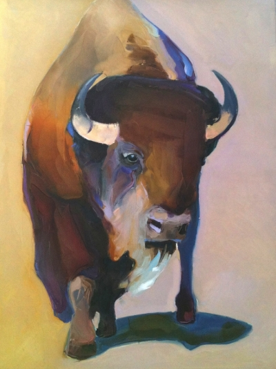 Buffalo 30x40 Stretched Canvas