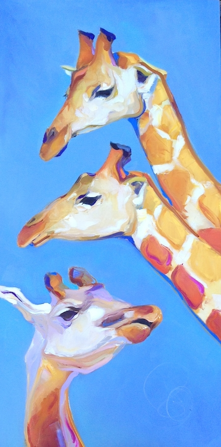 Giraffe's 30x60 Stretched Canvas