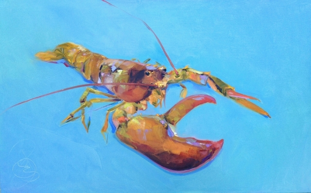 Lobster 30x48 Stretched Canvas