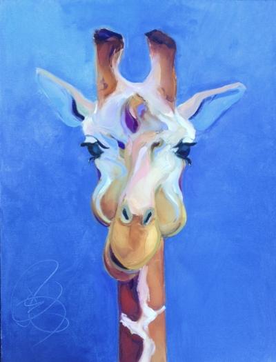 Giraffe 30x40 Stretched Canvas