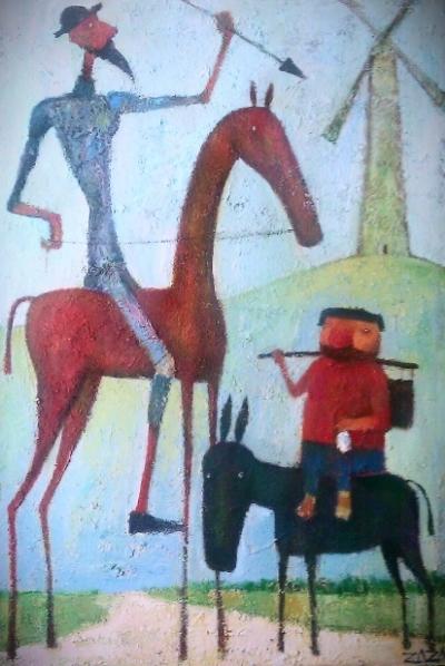 Don Quixote 40x60 STRETCHED CANVAS