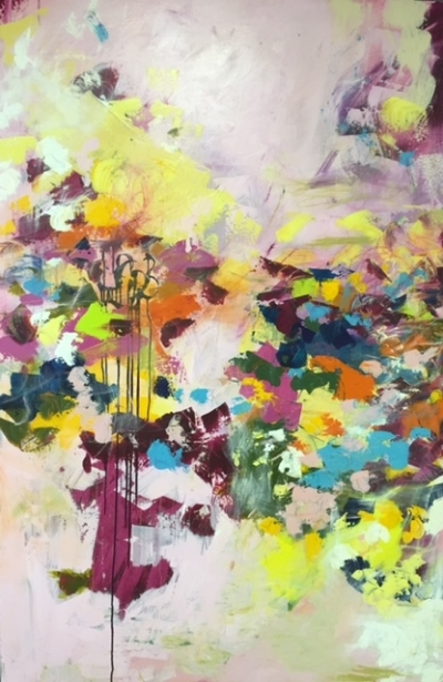 Garden Party 48x72 STRETCHED CANVAS