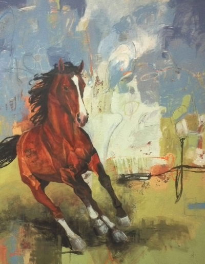 Horse 66x54x1.5 STRETCHED CANVAS