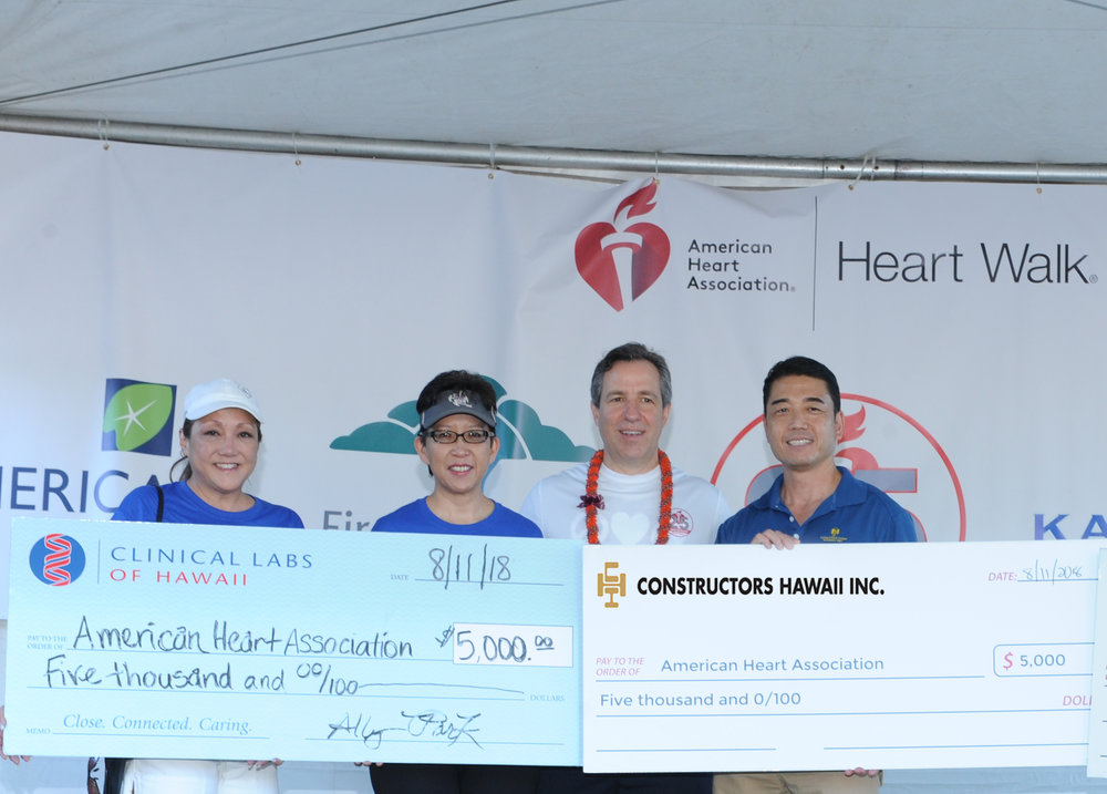 Constructors Hawaii Inc. president, Colin Yoshiyama at the check presentation ceremony.