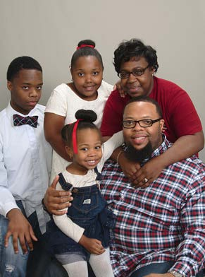 Derrick and his Family