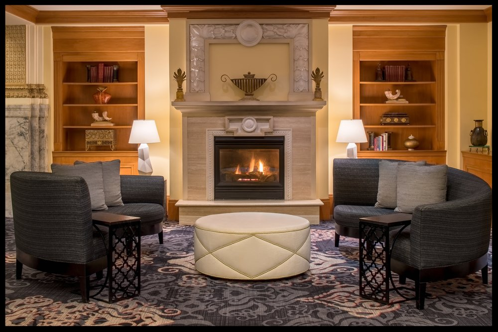 Embassy Suites PDX Fireplace