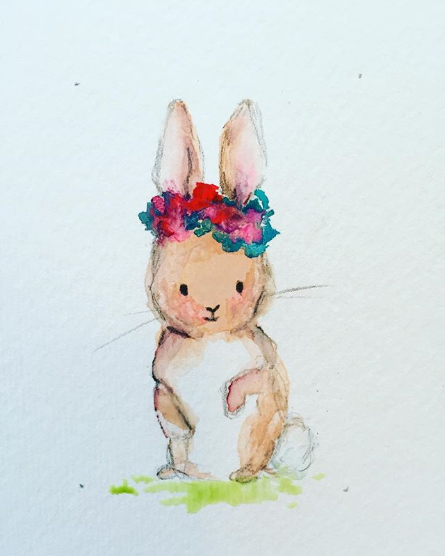This little cutie will be at the Franklin Art Crawl this Friday, Aug 5! See you there!? #watercolor @franklintn