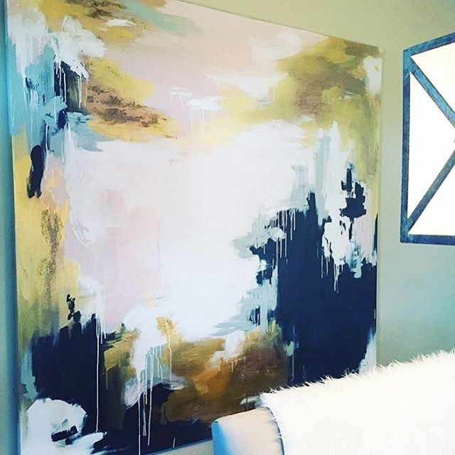 Love seeing my art in my amazing customer's homes! This is one of my favorites! @erintainment 💕