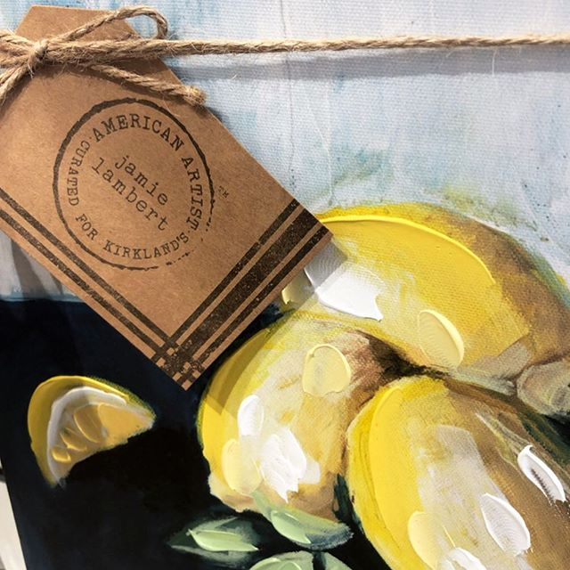 I spy the lemon painting in @kirklands @allaprimaparties