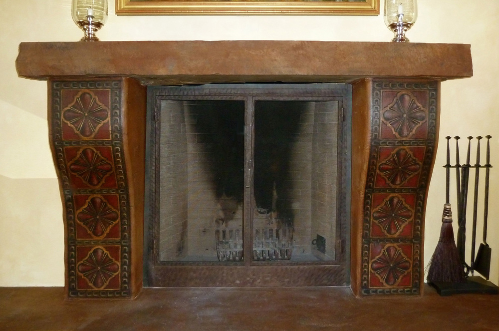 Fireplace faux painting.jpg