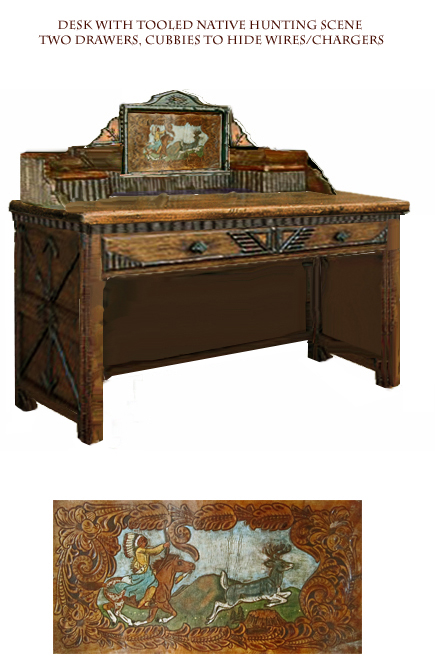 (better)Desk with Tooled Native Hunting panel.jpg