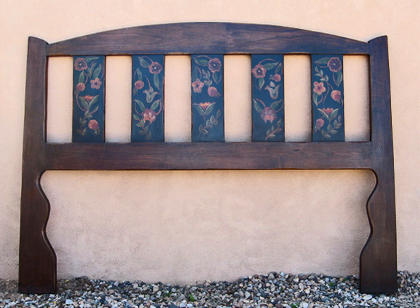 Anne's Floral on Monterey Style headboard.jpg