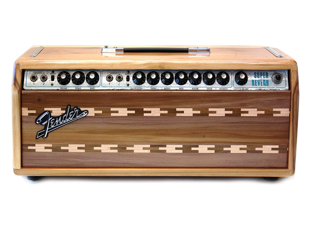 Customized Fender Super Reverb head with matching cabinet - $1,299