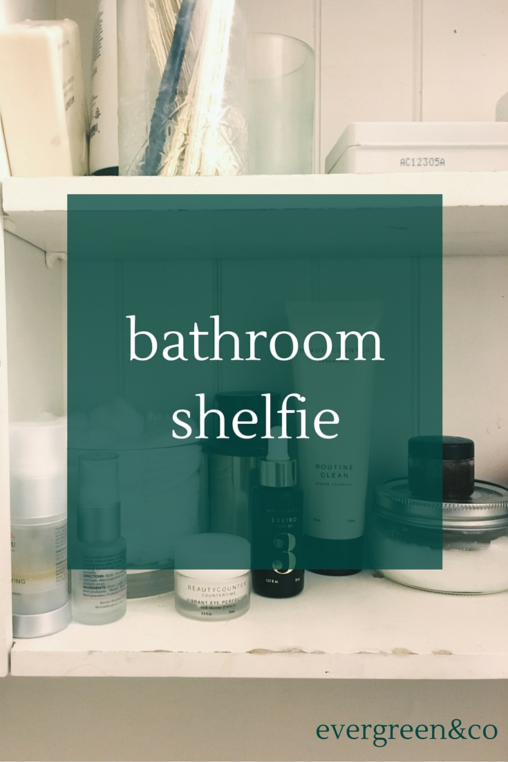 Check out what makes up my morning routine in this bathroom shelfie