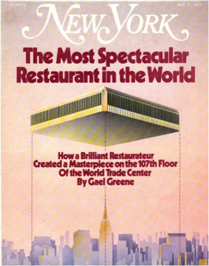 New York Magazine featured Windows on the World on its cover in 1976, the year of its opening.