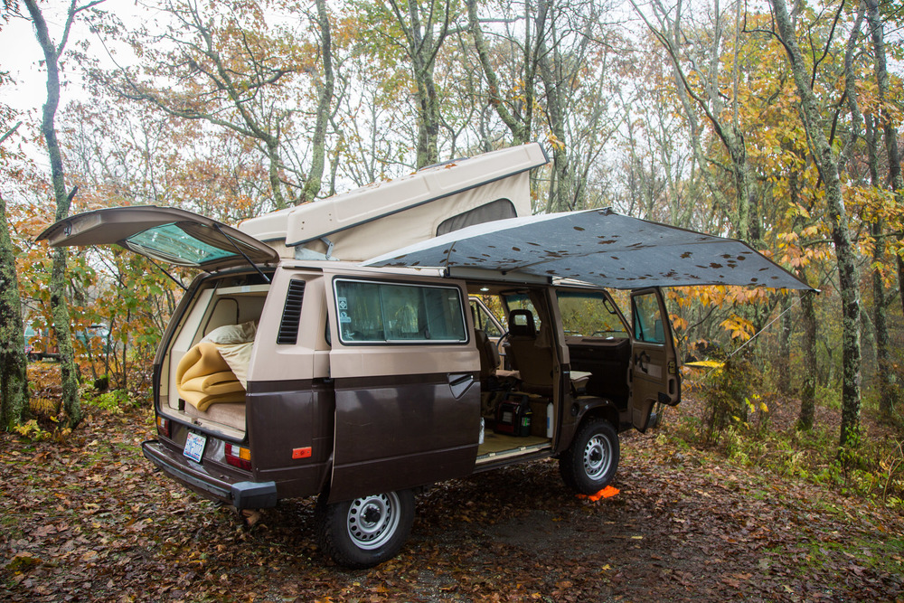 "A 1984 Vanagon Westfalia, affectionately known to the group as ""Turd"""