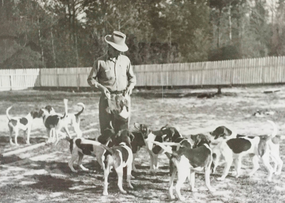 Percy Flowers with his Foxhounds