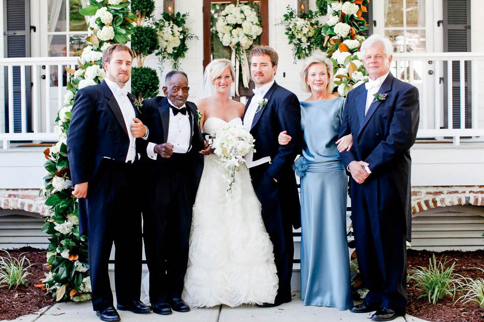 The flowers Family on Jordan and Ashley's Wedding Day in 2012