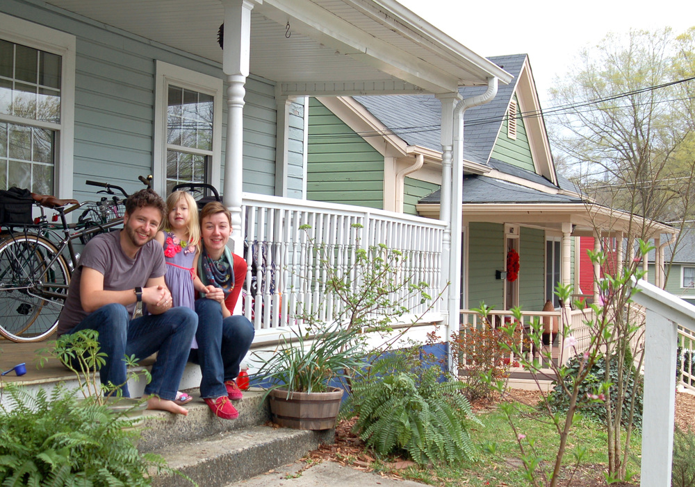 604 Primitive: Andrew, Jeanine, and Arabella Frost, homeowners since 2014.