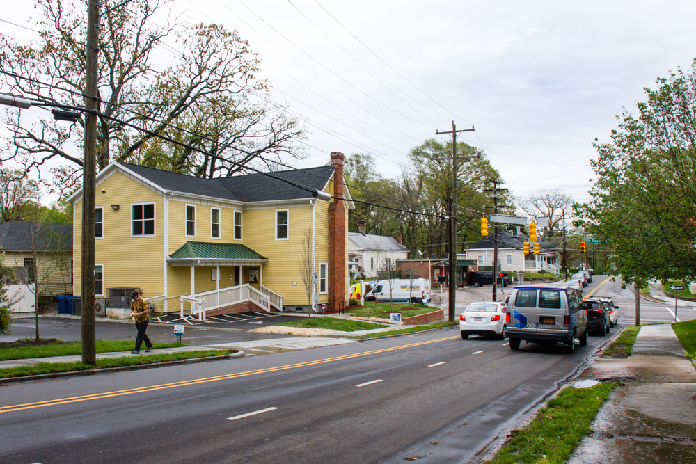 Located on the corner of Geer Street and Roxboro, Sunrise Recovery Resource Center brightens the view of a once blighted intersection.
