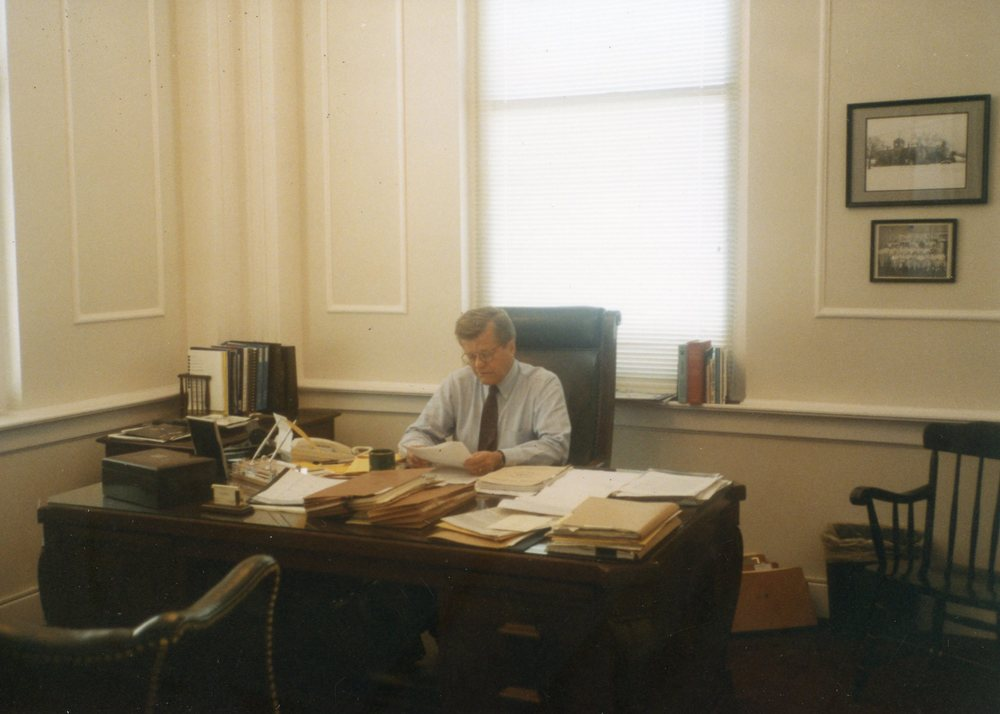 Robert in his Raleigh office