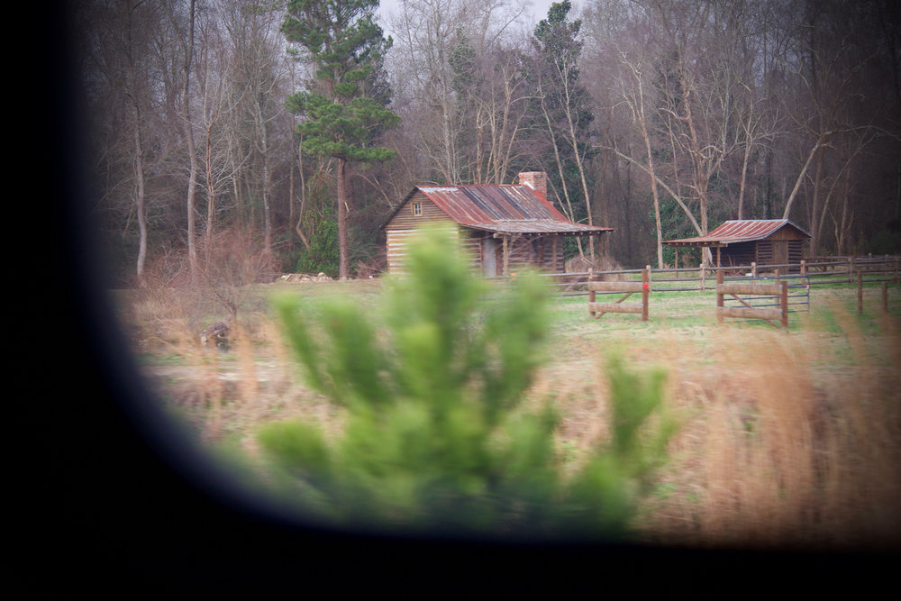 North Carolina landscape photographed from Northbound train.