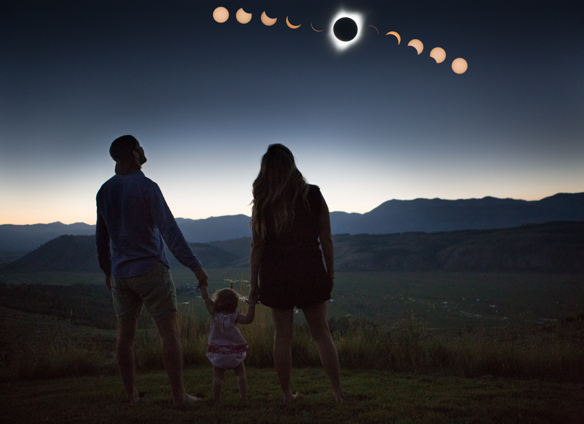 selfie family portrait - totality!