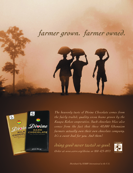 Messaging developed to introduce Divine Chocolate to the U.S.