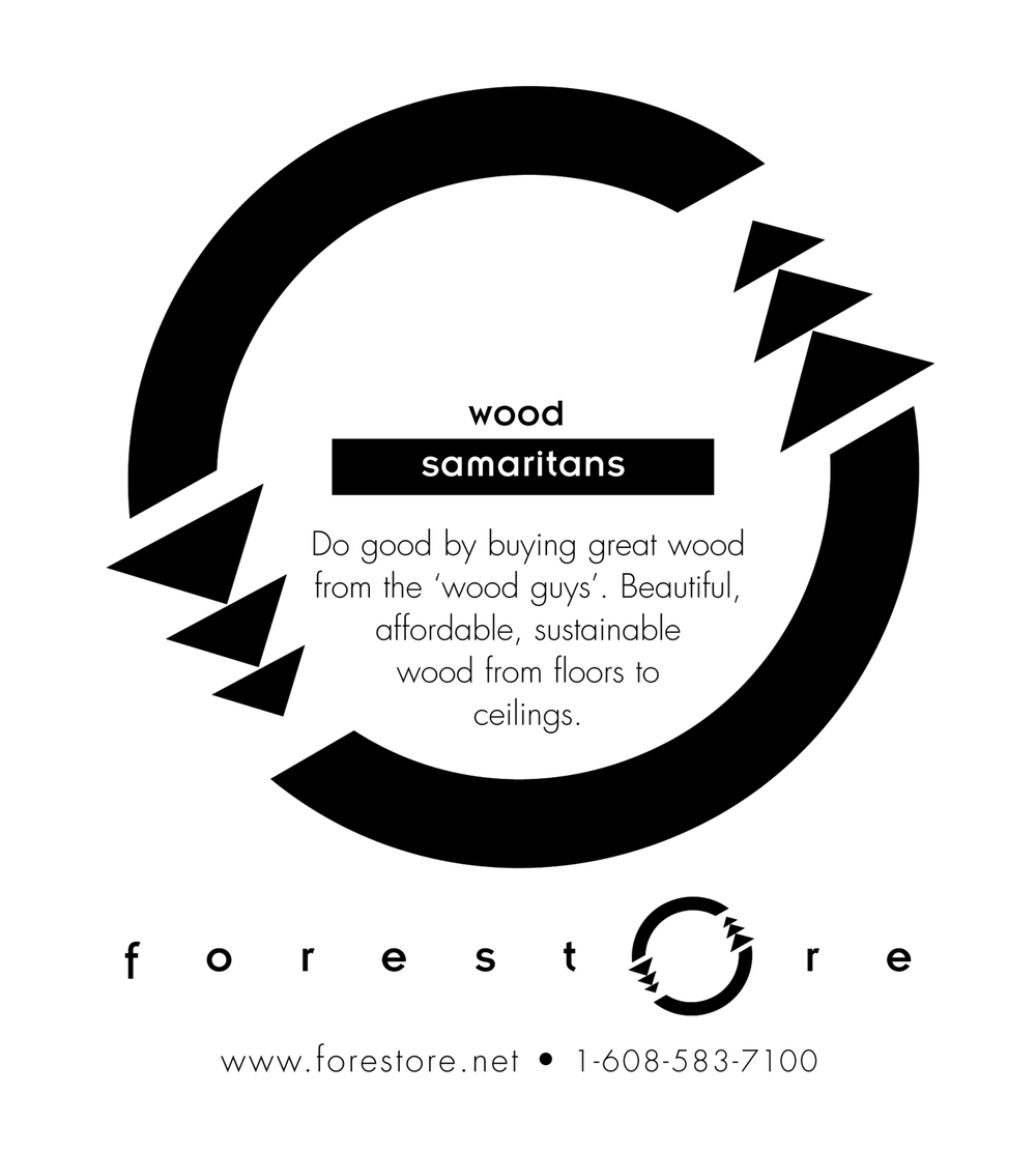 New brand, name and messaging created for sustainable forestry cooperative. Key word of message strategy is 'restore'. These are examples of small space newspaper ads that can be customized for local sustainable wood dealers.
